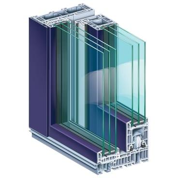 KOEMMERLING-PremiDoor-76-lux-AluClip-Nachtblau